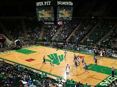 Mean Green basketball seating and parking