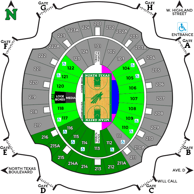 Super Pit Seating Chart
